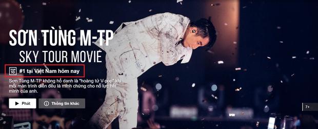 SKY TOUR Movie của Sơn Tùng M-TP leo top trending toàn thế giới sau 24 giờ thả cửa trực tuyến - Ảnh 1.