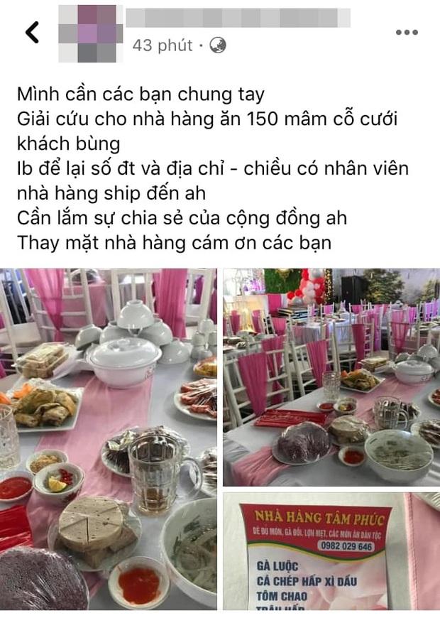 Thương cảm với nhà hàng bị bom 150 mâm cỗ cưới, người dân Điện Biên ùn ùn kéo đến mua ủng hộ - Ảnh 1.
