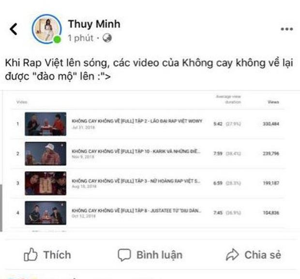 Rap Việt ngày càng hot, kéo theo lượt view tăng vọt của Bar Stories Wowy, Suboi - Ảnh 1.