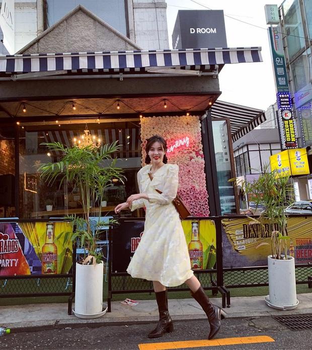 Sao Hàn diện váy liền mùa Thu: Nàng tiểu tam hot nhất xứ Hàn cũng góp vui với bộ váy hoa đẹp mê ly - Ảnh 5.