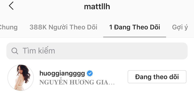 Matt Liu gia nhập hội chỉ follow mình em thì Hương Giang cũng có động thái đáp lễ tương tự! - Ảnh 1.