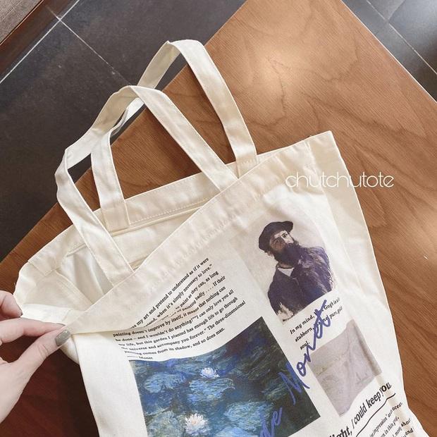 Chán diện balo đi học thì bạn hãy đổi sang túi tote vải: Giá rẻ, nhẹ tênh, diện lên là có style chuẩn Hàn Xẻng - Ảnh 1.