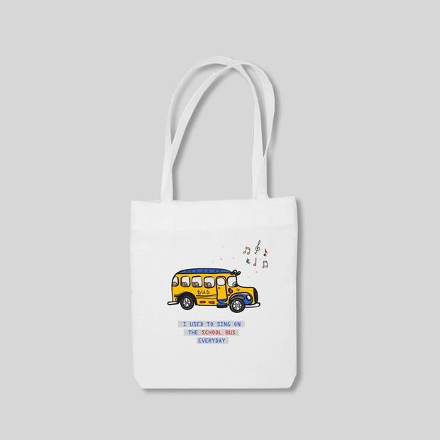 Chán diện balo đi học thì bạn hãy đổi sang túi tote vải: Giá rẻ, nhẹ tênh, diện lên là có style chuẩn Hàn Xẻng - Ảnh 21.