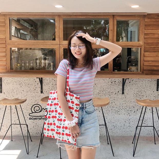 Chán diện balo đi học thì bạn hãy đổi sang túi tote vải: Giá rẻ, nhẹ tênh, diện lên là có style chuẩn Hàn Xẻng - Ảnh 11.
