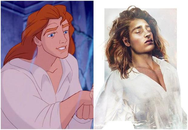 Bất ngờ với phiên bản đời thực của các nam chính trong phim hoạt hình Disney, toàn siêu cấp đẹp trai đốn tim chị em - Ảnh 2.