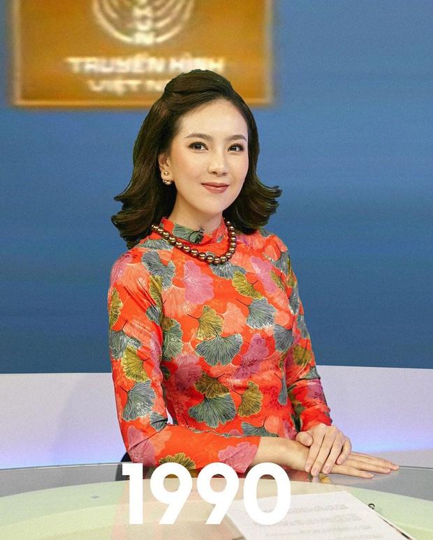 Mai Ngọc tái hiện hình ảnh MC Thời Sự VTV qua 50 năm, dân tình bồi hồi nhớ kỉ niệm tuổi thơ - Ảnh 2.