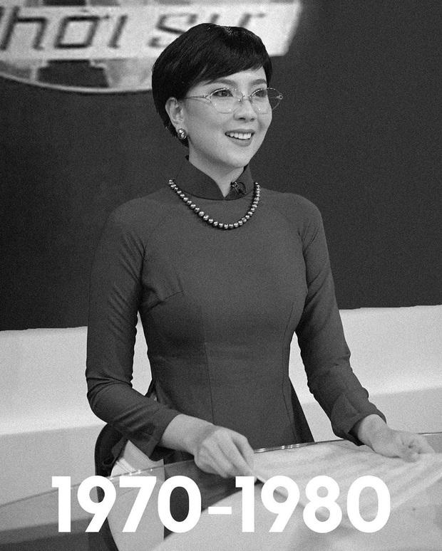 Mai Ngọc tái hiện hình ảnh MC Thời Sự VTV qua 50 năm, dân tình bồi hồi nhớ kỉ niệm tuổi thơ - Ảnh 1.