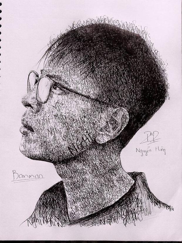 Sau Sơn Tùng, Binz đến lượt Bomman đua trend vẽ tranh yêu em 3000 chữ Nghi khiến cộng đồng phát sốt - Ảnh 1.