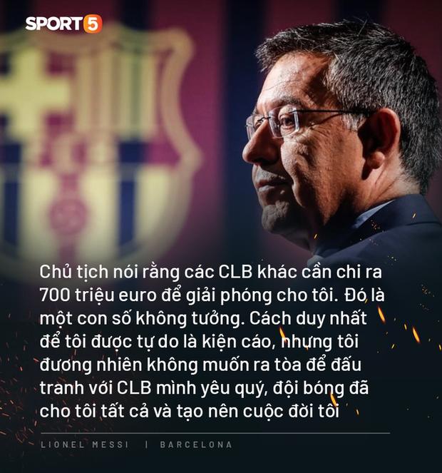 Photo quotes: 11 câu nói đắt giá nhất của Messi trong ngày anh dốc hết ruột gan vạch trần Chủ tịch Barca - Ảnh 8.