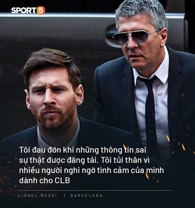 Photo quotes: 11 câu nói đắt giá nhất của Messi trong ngày anh dốc hết ruột gan vạch trần Chủ tịch Barca - Ảnh 10.
