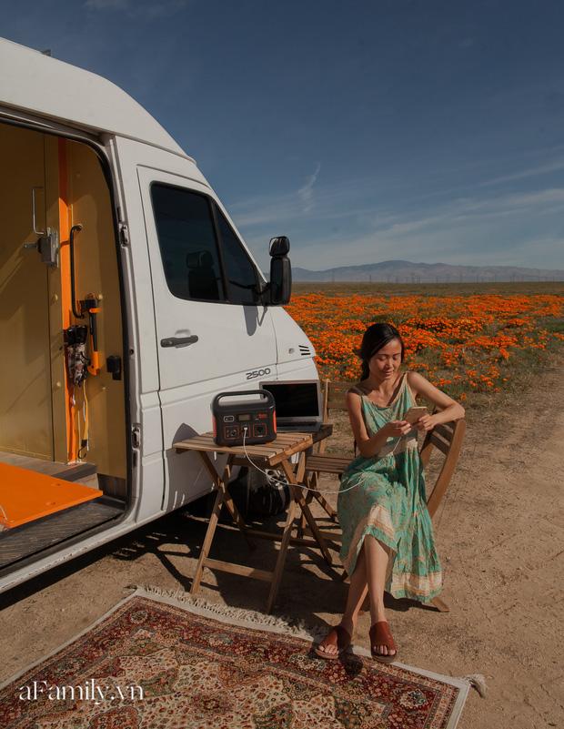 Đôi vợ chồng người Việt đầu tư gần 600 triệu đồng mua chiếc xe Van, tự xây bếp và phòng ngủ rồi đưa nhau đi khắp nước Mỹ, mỗi sáng thức dậy là một view khác nhau - Ảnh 8.