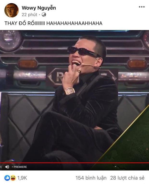 Wowy vui mừng vì được thay đồ mới ở Rap Việt, fan vào nói giống... MC Lại Văn Sâm - Ảnh 3.