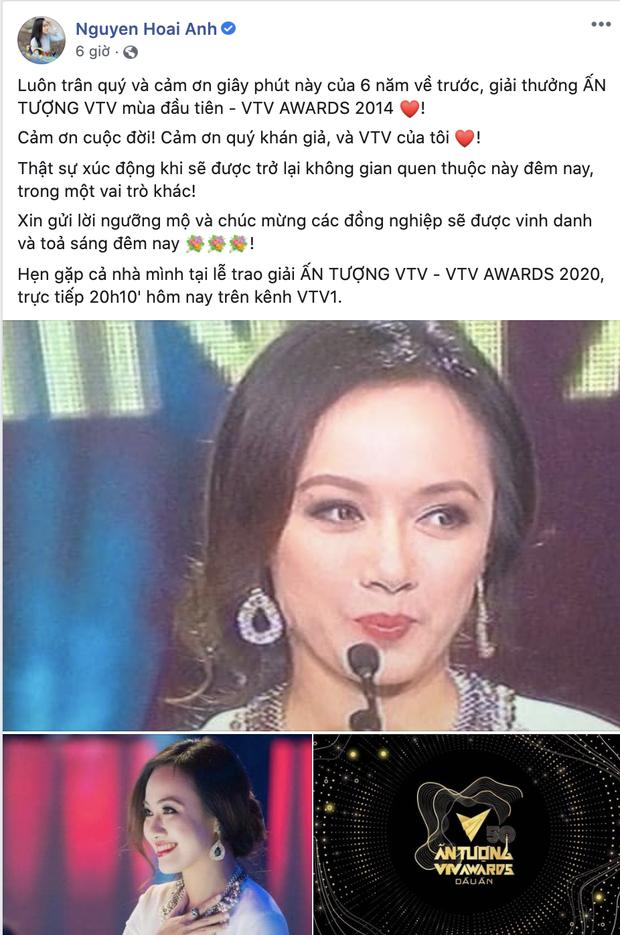 BTV Hoài Anh bồi hồi nhớ lại VTV Awards 6 năm trước, dân tình chỉ mải mê khen nhan sắc trẻ mãi không già  - Ảnh 1.