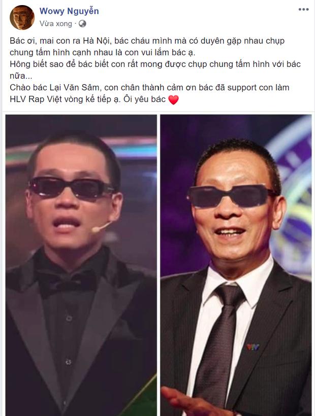 Cuối cùng thì MC Lại Văn Sâm cũng đích thân lên tiếng khi được so sánh với Wowy ở Rap Việt! - Ảnh 2.
