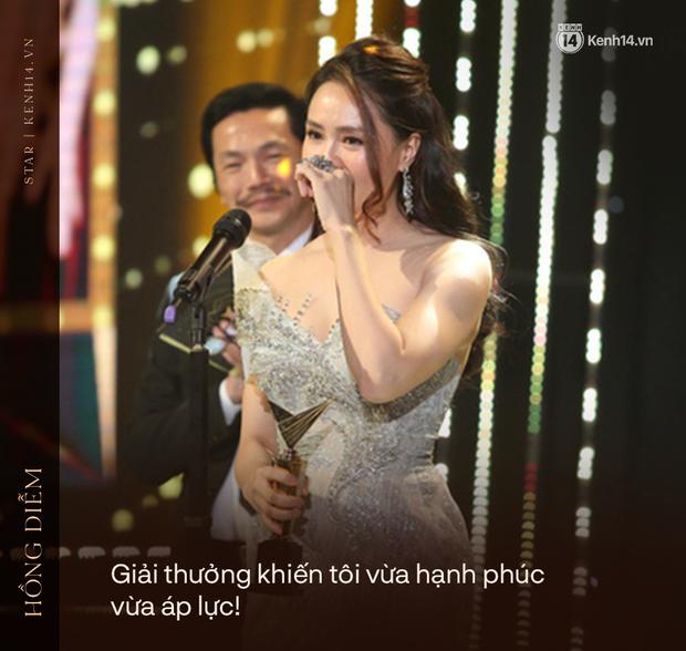 """Phỏng vấn nóng Hồng Diễm sau màn thắng đậm ở VTV Awards: """"Tôi không chán đóng với Hồng Đăng nhưng sợ khán giả sẽ cảm thấy chán"""" - Ảnh 5."""