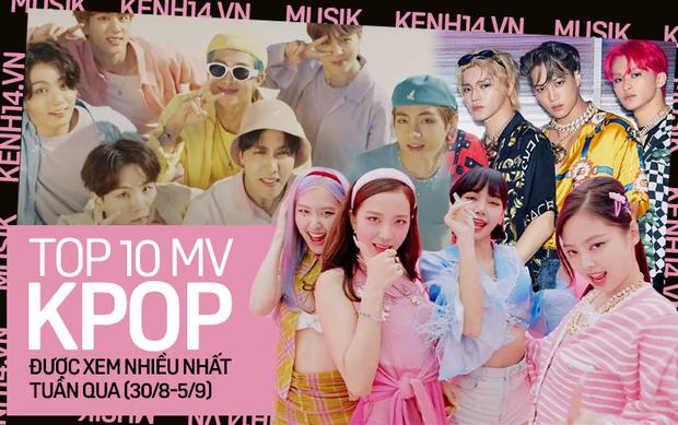 10 MV Kpop được xem nhiều nhất tuần: BLACKPINK chính thức vượt mặt BTS, ITZY lội ngược dòng đầy ấn tượng - Ảnh 1.