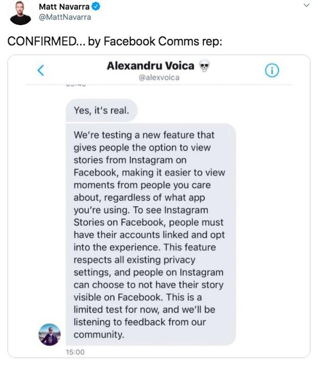 Instagram sẽ cho phép người dùng xem story ngay từ trên Facebook - Ảnh 2.