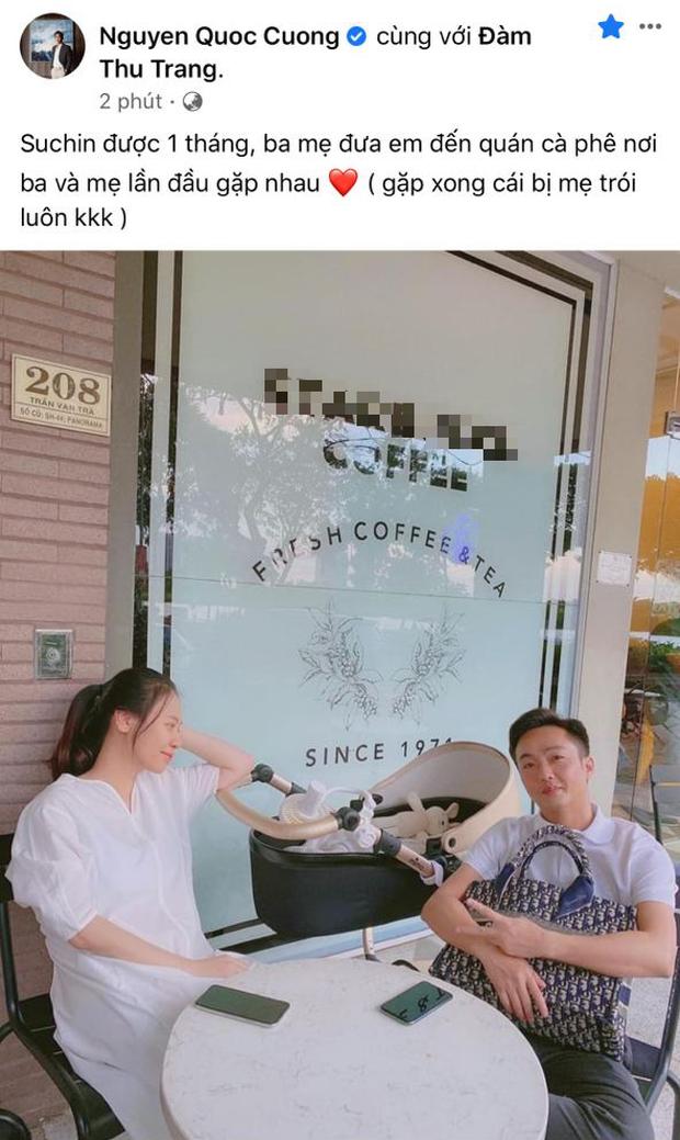 Cường Đô La đúng chất ông bố bỉm sữa: Dẫn Đàm Thu Trang và con gái đi chơi cuối tuần nhưng chẳng quên nhiệm vụ đặc biệt - Ảnh 2.