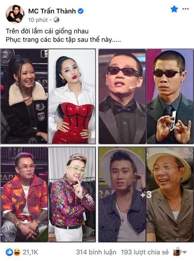 Dàn sao Rap Việt thay đồ mới liền được Trấn Thành so sánh lầy lội, trùm cuối không làm mọi người thất vọng - Ảnh 2.