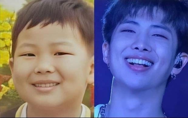 So sánh ảnh quá khứ - hiện tại của BTS: Chứng minh nhan sắc hàng thật giá thật, loạt nam thần đình đám đẹp trai từ thời thơ bé - Ảnh 26.