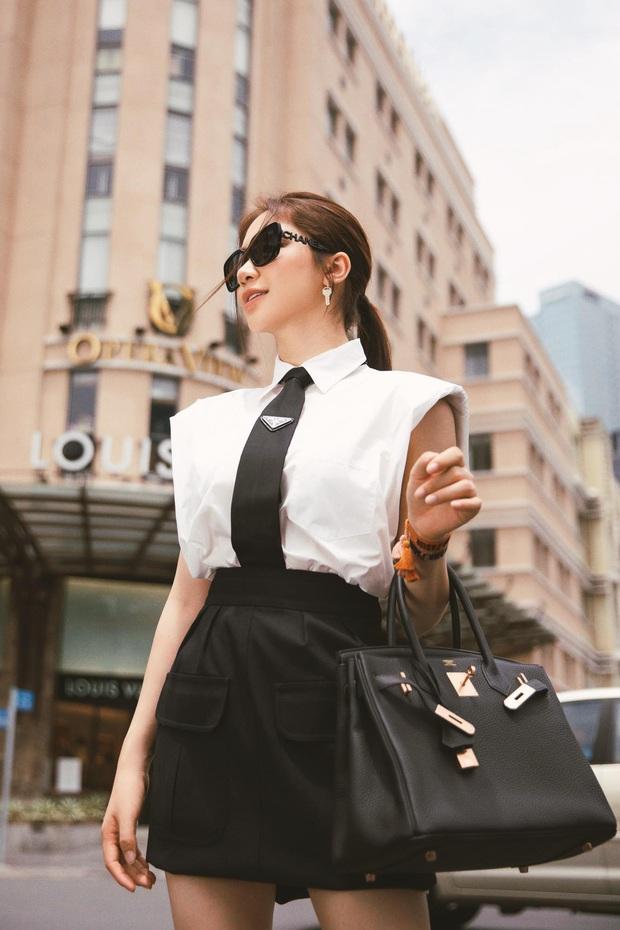 """Mới năm ngoái còn thanh lý túi hiệu để làm MV, năm nay Hòa Minzy đã sắm hẳn 3 túi Hermès và loạt """"bé iu"""" đắt tiền khác - Ảnh 2."""