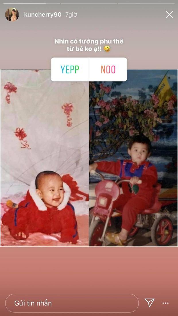 MC Thu Hoài chứng minh có nhân duyên với bồ giám đốc qua bức ảnh ngày bé giống nhau như đúc - Ảnh 1.