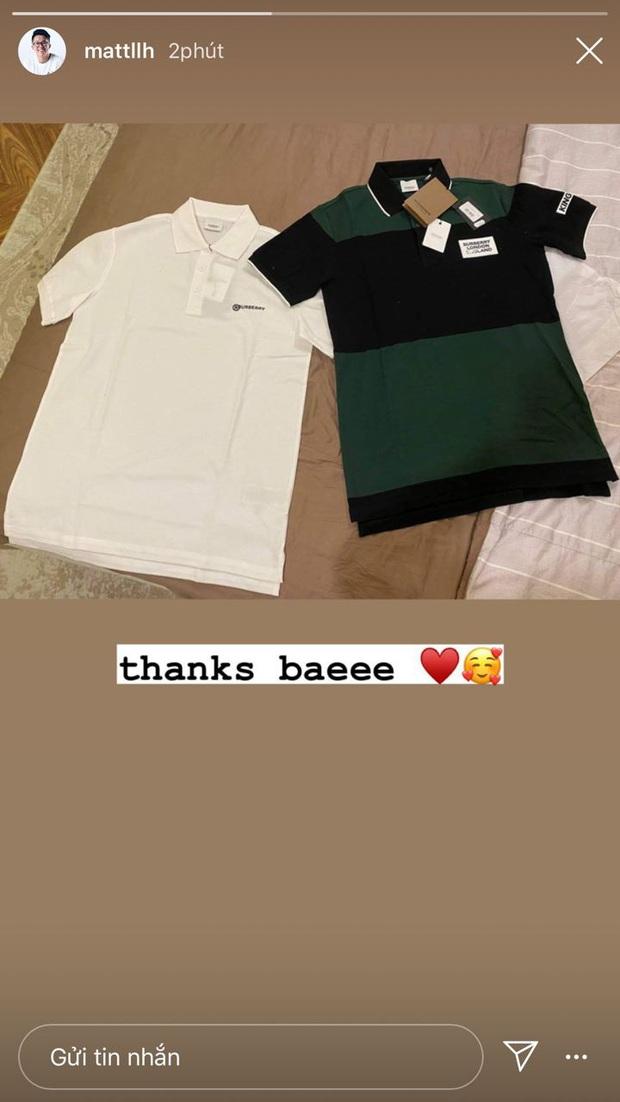 Vừa đưa Hương Giang đi ra mắt hội mê siêu xe, Matt Liu đã khoe được bé yêu tặng 2 cái áo hàng hiệu - Ảnh 3.