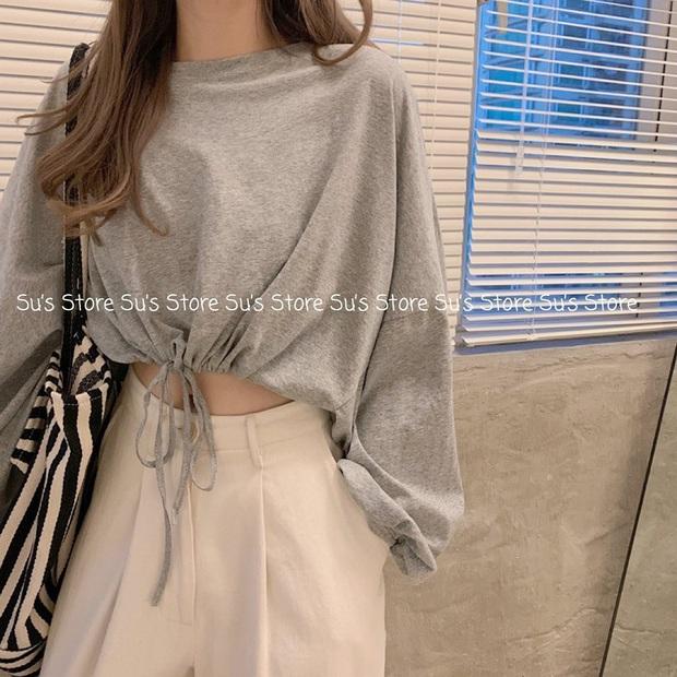 Trời mát mẻ thế này diện áo phông dài tay là chuẩn chỉnh, bạt ngàn mẫu xinh xẻo mà giá chỉ từ 110K - Ảnh 11.