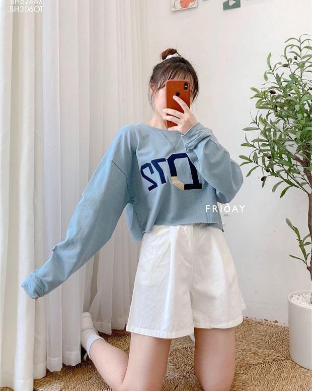 Trời mát mẻ thế này diện áo phông dài tay là chuẩn chỉnh, bạt ngàn mẫu xinh xẻo mà giá chỉ từ 110K - Ảnh 15.