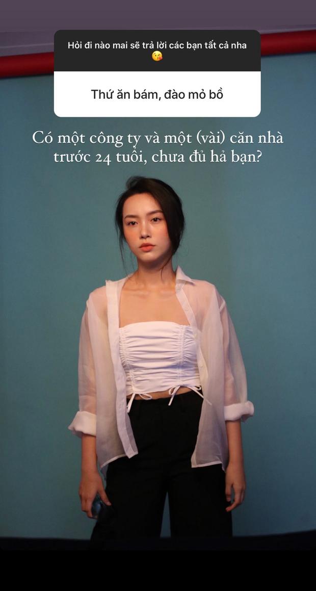 Bị nói ăn bám, đào mỏ Quang Đạt, Hà Trúc thẳng thừng: 24 tuổi có công ty và vài căn nhà, chưa đủ hả? - Ảnh 1.