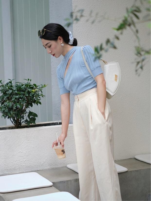 Các quý cô châu Á đồng loạt tẩy chay quần ôm, chỉ diện quần ống rộng với cả chục cách phối đồ đi làm đẹp hết nấc - Ảnh 2.