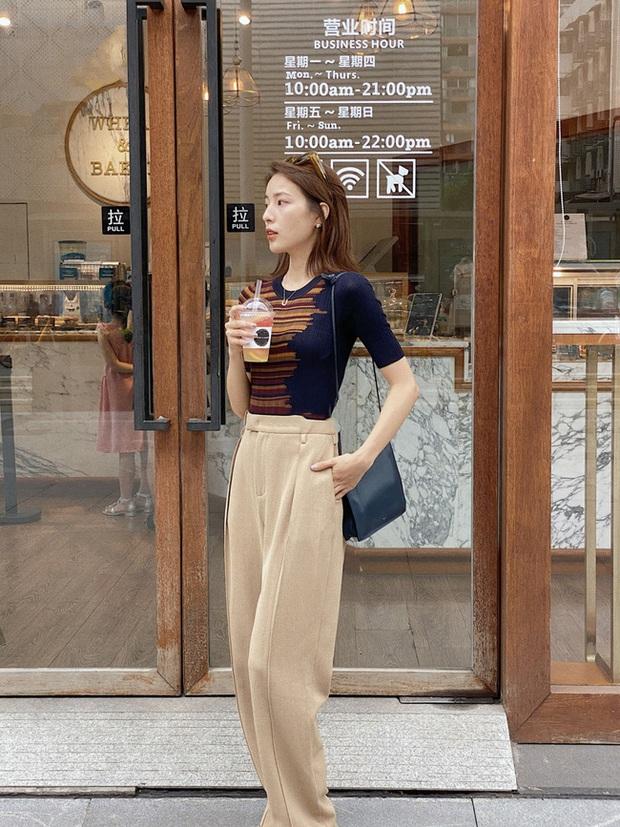 Các quý cô châu Á đồng loạt tẩy chay quần ôm, chỉ diện quần ống rộng với cả chục cách phối đồ đi làm đẹp hết nấc - Ảnh 3.