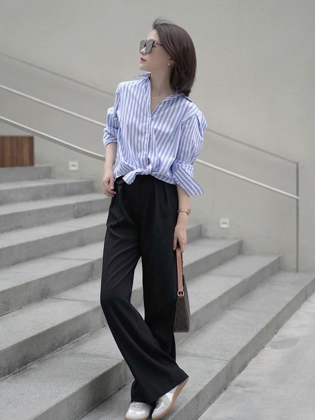Các quý cô châu Á đồng loạt tẩy chay quần ôm, chỉ diện quần ống rộng với cả chục cách phối đồ đi làm đẹp hết nấc - Ảnh 4.
