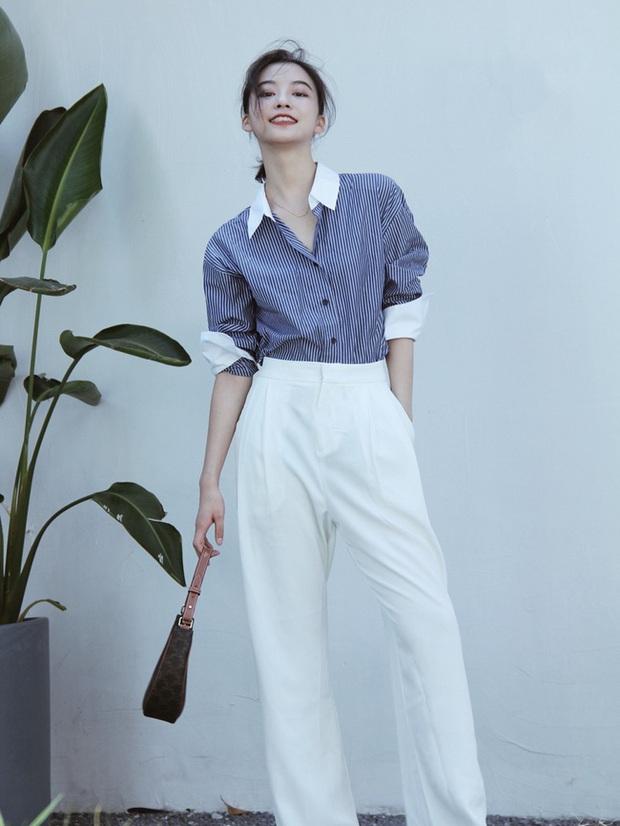 Các quý cô châu Á đồng loạt tẩy chay quần ôm, chỉ diện quần ống rộng với cả chục cách phối đồ đi làm đẹp hết nấc - Ảnh 5.