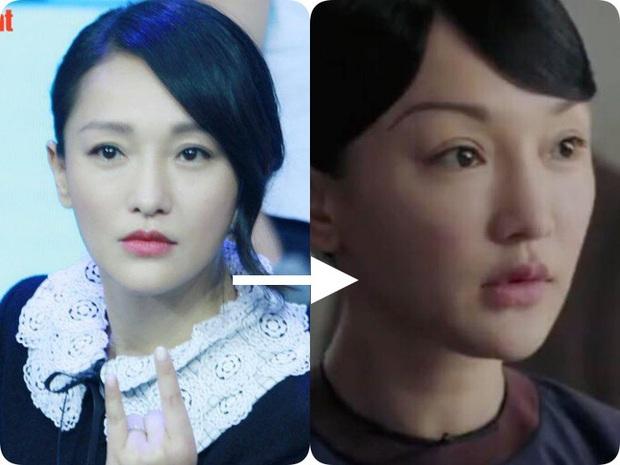 2 năm sau Như Ý Truyện, Châu Tấn gây giật mình với kiểu tóc và váy áo cưa sừng làm nghé quá mức so với tuổi 45 - Ảnh 7.