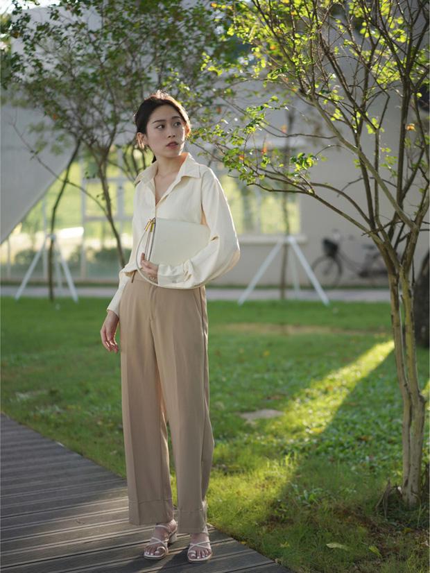 Các quý cô châu Á đồng loạt tẩy chay quần ôm, chỉ diện quần ống rộng với cả chục cách phối đồ đi làm đẹp hết nấc - Ảnh 7.