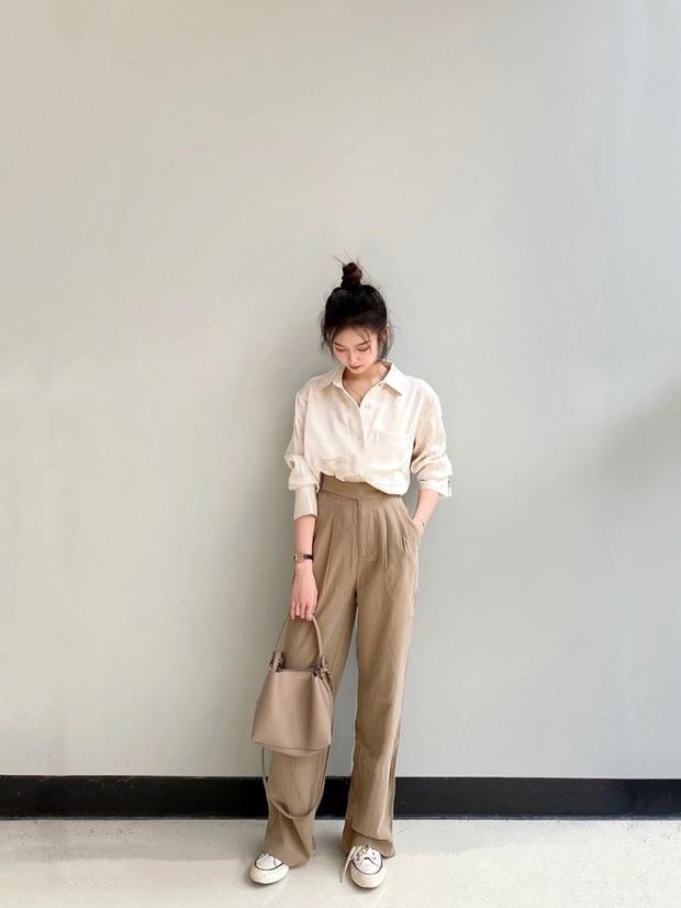 Các quý cô châu Á đồng loạt tẩy chay quần ôm, chỉ diện quần ống rộng với cả chục cách phối đồ đi làm đẹp hết nấc - Ảnh 10.