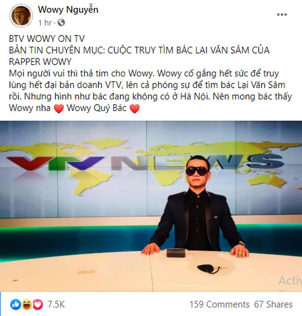 Wowy diện vest bảnh bao lên tận đài truyền hình để tìm MC Lại Văn Sâm nhưng lại nhận cái kết đắng! - Ảnh 2.