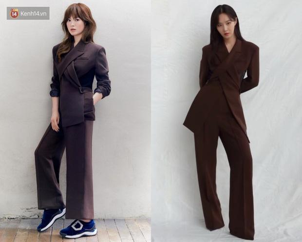 Diện suit ra dáng soái tỷ nhưng Song Hye Kyo lại lộ nhược điểm chân ngắn khi đụng độ Yuri (SNSD) - Ảnh 8.