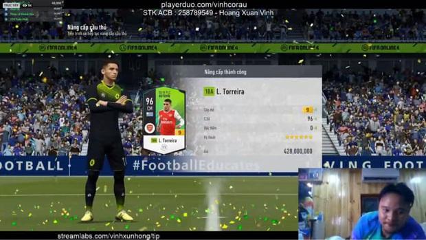 FIFA Online 4: Vinh Râu FAPTV livestream nâng cấp thành công thẻ +10 đầu tiên, Akira Phan phải vào xin ngay bí kíp - Ảnh 5.