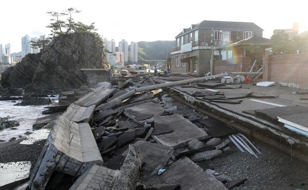 Chùm ảnh về siêu bão Haishen mạnh kỷ lục càn quét Nhật Bản và Hàn Quốc: Cuồng phong đi qua, còn hoang tàn ở lại - Ảnh 8.