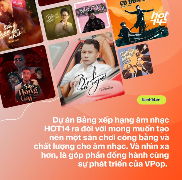 Ra mắt bảng xếp hạng HOT14 bao quát các nền tảng nhạc Việt: Đường đua mới cho nghệ sĩ và âm nhạc đích thực - Ảnh 4.