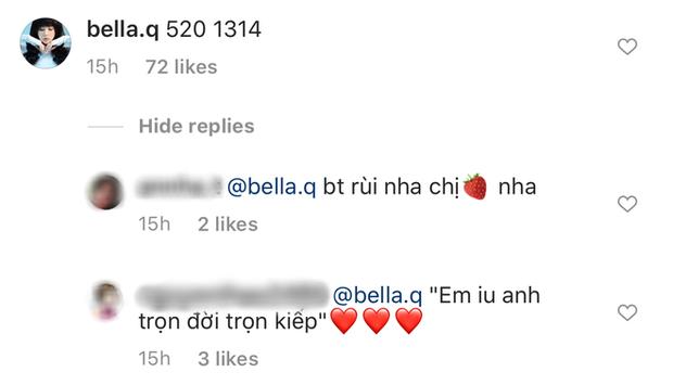 7 tiếng trước khi unfollow Karik, Bella vẫn bình luận ảnh bạn trai: Em yêu anh trọn đời trọn kiếp - Ảnh 2.