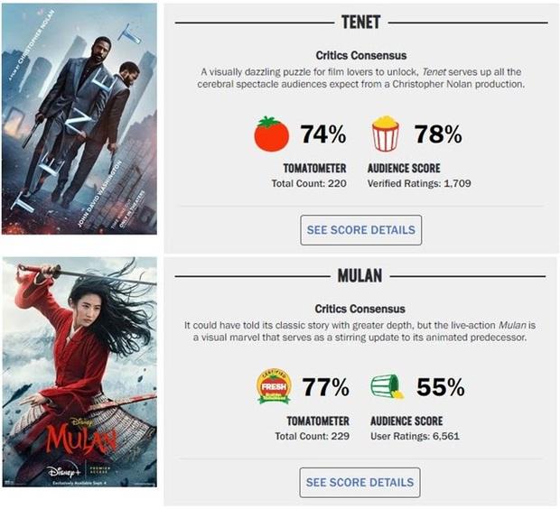 Rối mắt với điểm đánh giá khó hiểu của TENET và Mulan, Cà Thối có còn đáng tin như trước? - Ảnh 2.