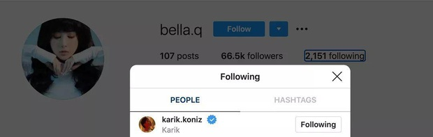 Như chưa hề có cuộc chia ly: Bella follow lại Karik sau loạt ồn ào, có động thái mới ngay dưới tin nghi vấn chia tay - Ảnh 2.