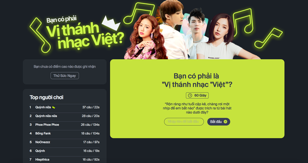 Chơi ngay game hot nhất ngày: Nhạc lên là hát nhưng bạn có phải vị thánh nhạc Việt? - Ảnh 2.