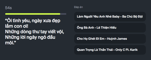 Chơi ngay game hot nhất ngày: Nhạc lên là hát nhưng bạn có phải vị thánh nhạc Việt? - Ảnh 3.