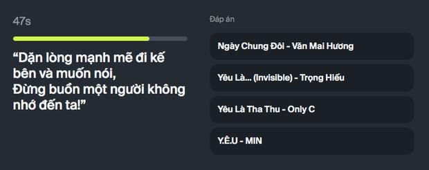 Chơi ngay game hot nhất ngày: Nhạc lên là hát nhưng bạn có phải vị thánh nhạc Việt? - Ảnh 4.