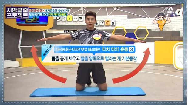 HLV Hàn Quốc hướng dẫn bài tập giúp giảm 5cm mỡ bụng chỉ sau 5 phút tập luyện - Ảnh 3.