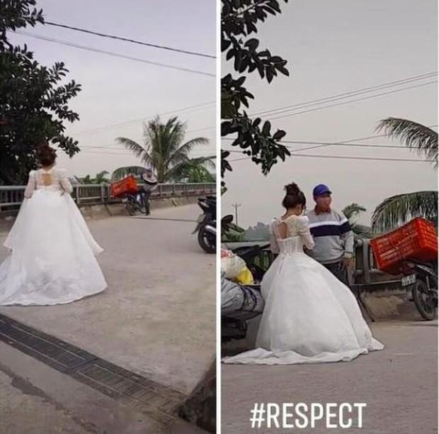 Dù bận cưới nhưng quyết không bom hàng, cô dâu xách váy cưới chạy đi gặp shipper khiến dân tình cười ngặt nghẽo - Ảnh 2.